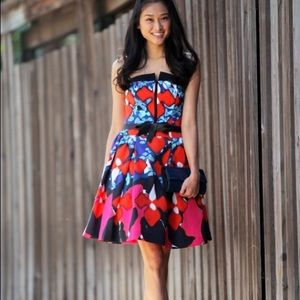 Peter Pilloto For Target Jacquard Red Iris Dress
